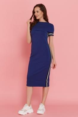 Платье для кормящих мам летнее Pure Ma сине-фиолетовое