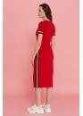 Платье для кормящих мам летнее Pure Ma красное (маковое)