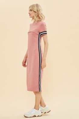 Платье для кормящих мам летнее Pure Ma розовое