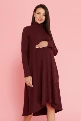 Платье-трапеция для беременных Future Ma бордовое
