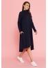 Платье-трапеция для беременных Future Ma синее