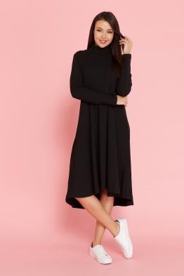 Платье-трапеция для беременных Future Ma черное