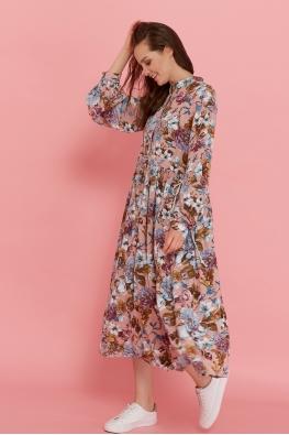 Платье для беременных и кормящих мам My Flower чайная роза (с цветами)