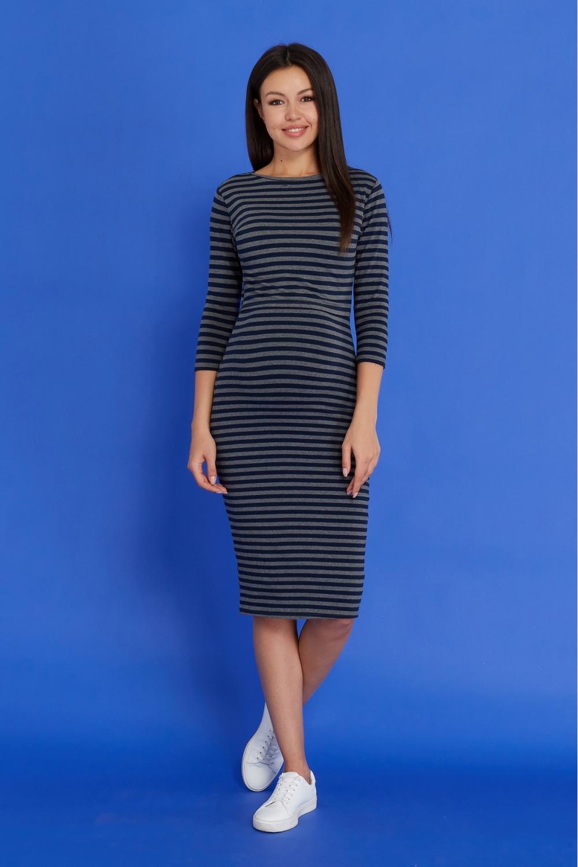 Платье миди для беременных и кормящих
