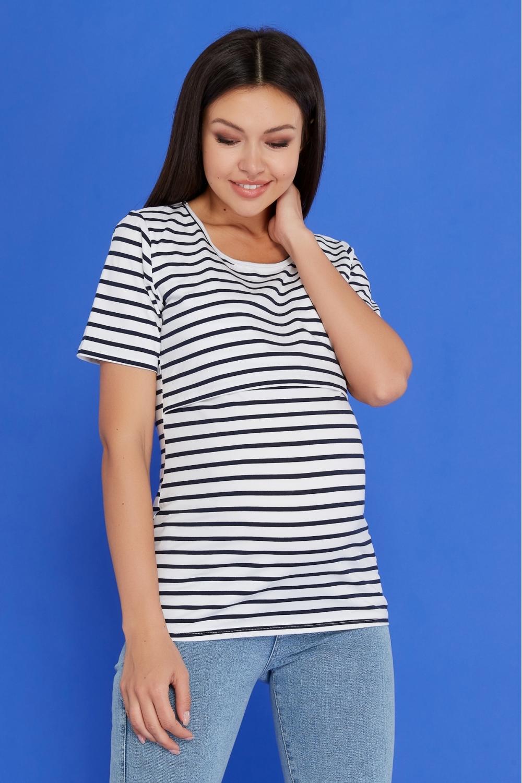 Футболка  в полоску для беременных и кормящих