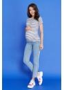 Футболка для беременных и кормящих мам Marine Ma (с манжетом)  в синюю полоску
