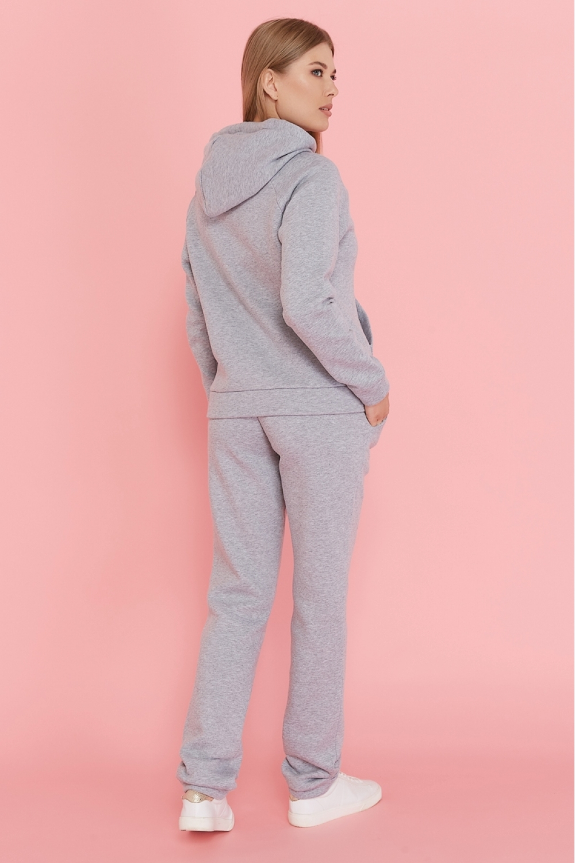 Утепленный костюм для кормящих мам My Buddy светло-серый меланж