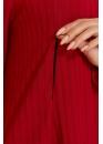 Платье-трапеция для беременных и кормящих мам My Fabby красное