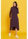 Платье-трапеция для беременных и кормящих мам My Fabby фиолетовое