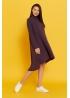 Платье-трапеция для беременных и кормящих мам My Fabby фиолетовое миди