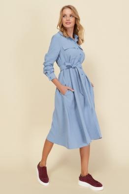 Платье для беременных и кормящих мам Romantic Ma голубое