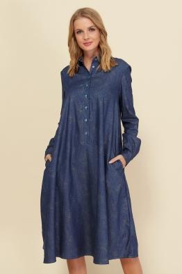 Платье для беременных и кормящих мам Romantic Ma джинсовое