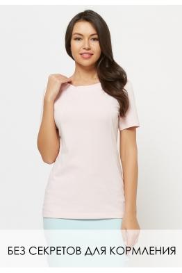 Удлиненная футболка Wish Yu розовая