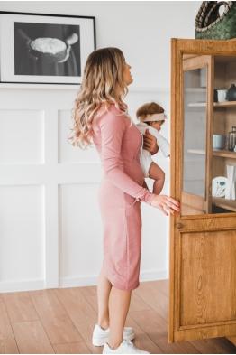 Платье для кормящих мам Hoodie Ma брусничное
