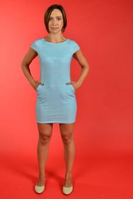 Летнее платье для кормления LIKE YU с голубыми черточками, Мини
