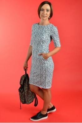 Лёгкое платье для кормления LOVE YU с косами, Миди