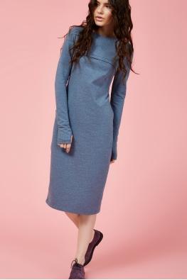 Платье для кормящих мам Pure Ma синее