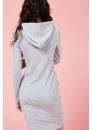 Платье для кормящих мам Hoodie Ma серое