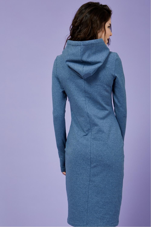 Платье для кормящих мам Hoodie Ma индиго