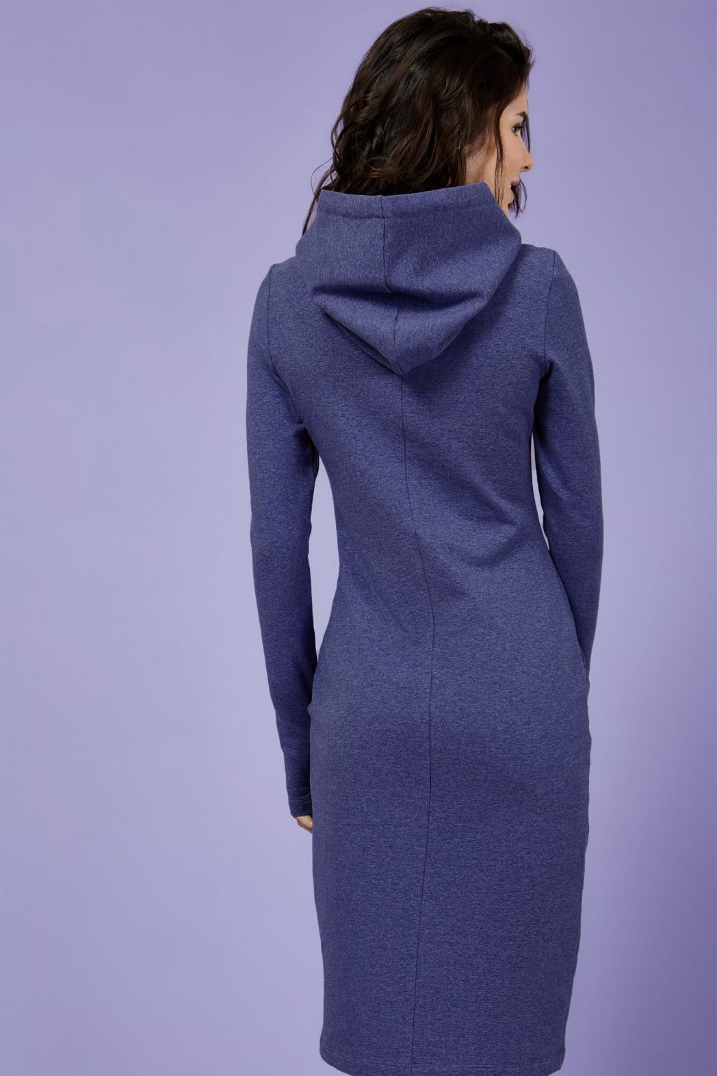 Платье для кормящих мам HOODIE MA синее, Миди