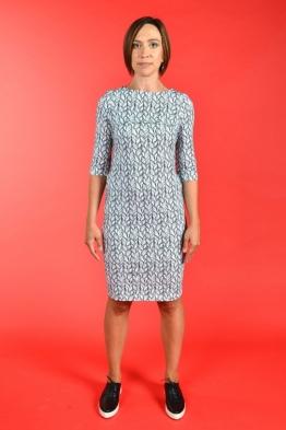 Лёгкое платье для кормящих мам PURE MA с косами, Миди