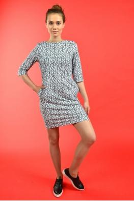 Лёгкое платье для кормящих мам PURE MA с косами, Мини