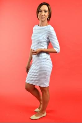 Лёгкое платье для кормления PURE MA с синими полосками, Миди