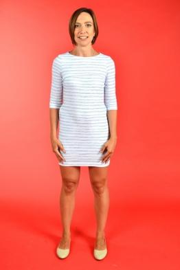 Лёгкое платье для кормящих мам PURE MA с синими полосками, Мини