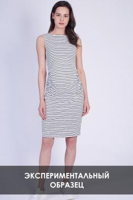 ОБРАЗЕЦ Платье для беременных в черно-белую полоску