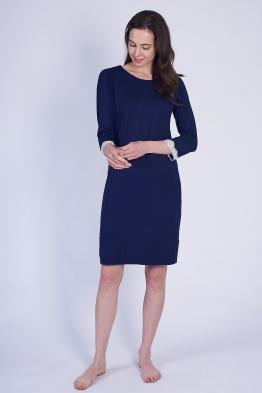 ОБРАЗЕЦ Ночная сорочка для кормящих мам темно-синяя