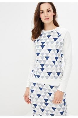Свитшот  My Tender с принтом (синий треугольник)