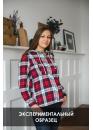 ОБРАЗЕЦ Рубашка для беременных и кормящих красная