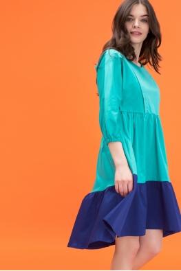 Платье для кормящих мам Glow Me бирюзовое