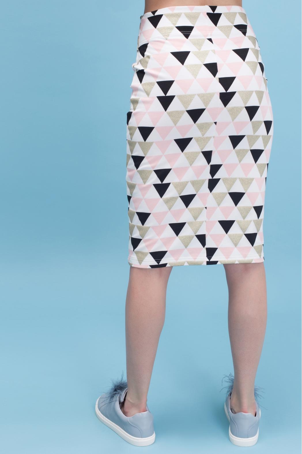 Юбка My Comfy с принтом (розовый треугольник)