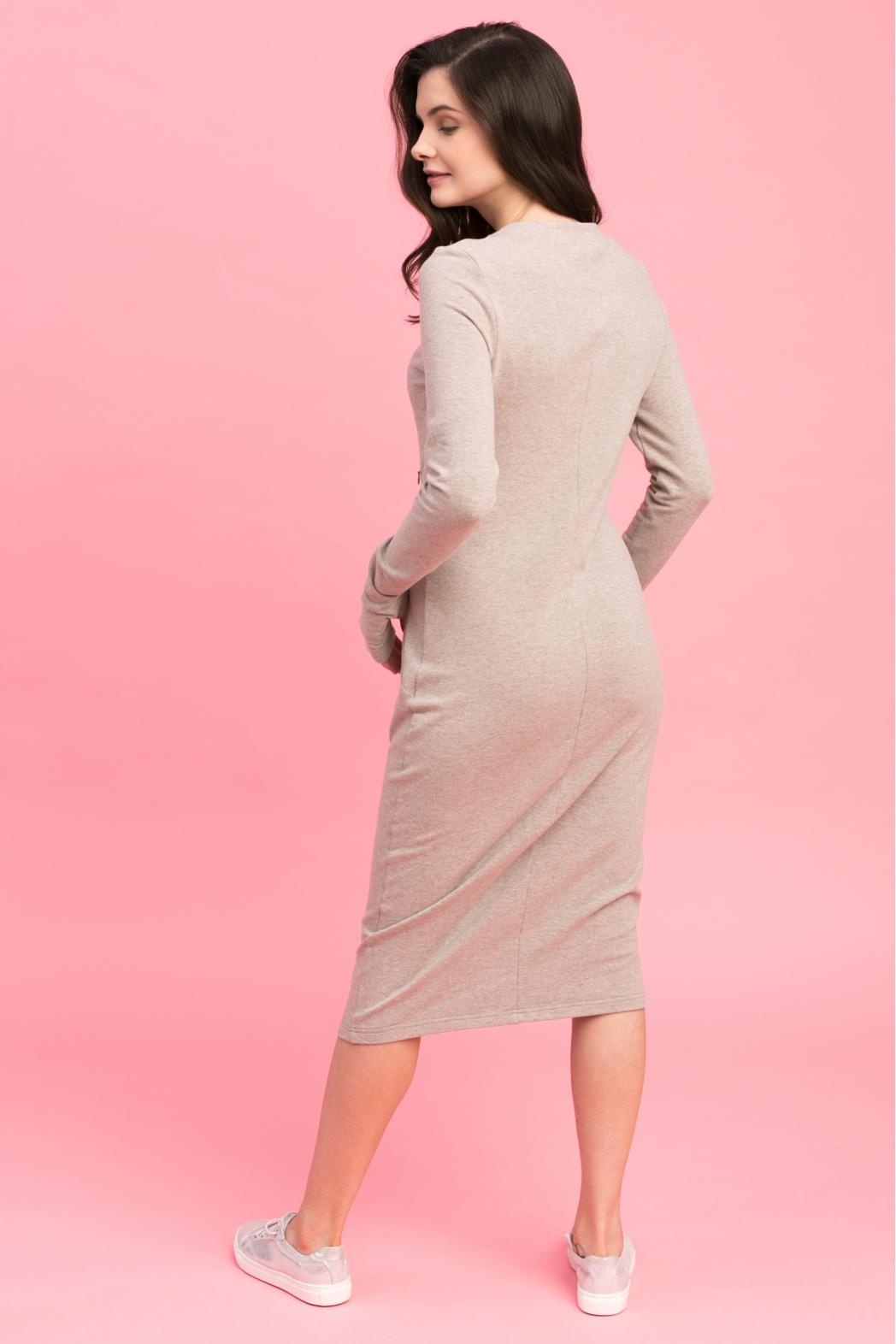 Платье для кормящих мам Love Yu кофейное