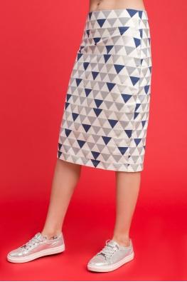 Юбка My Comfy с принтом (синий треугольник)