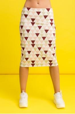 Юбка My Comfy с принтом (бордовый треугольник)
