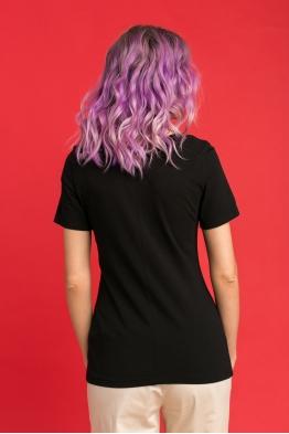 Удлиненная футболка Wish Yu черная