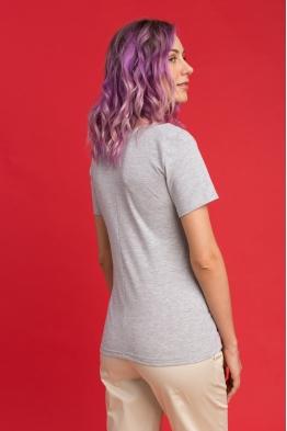 Удлиненная футболка Wish Yu серый меланж