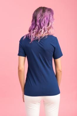Удлиненная футболка Wish Yu индиго