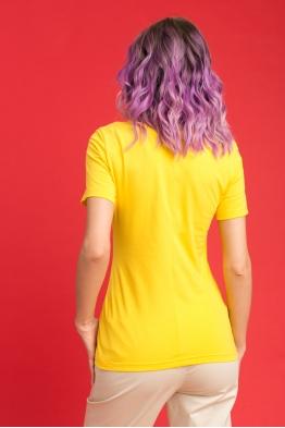 Удлиненная футболка Wish Yu желтая