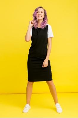 Платье для беременных и кормящих мам My Color черное