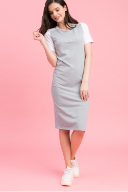 Платье для беременных и кормящих мам My Color серое