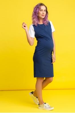 Платье для беременных и кормящих мам My Color индиго