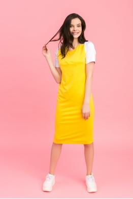 Платье My Color желтое