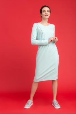 Платье для беременных и кормящих мам City Ma голубое