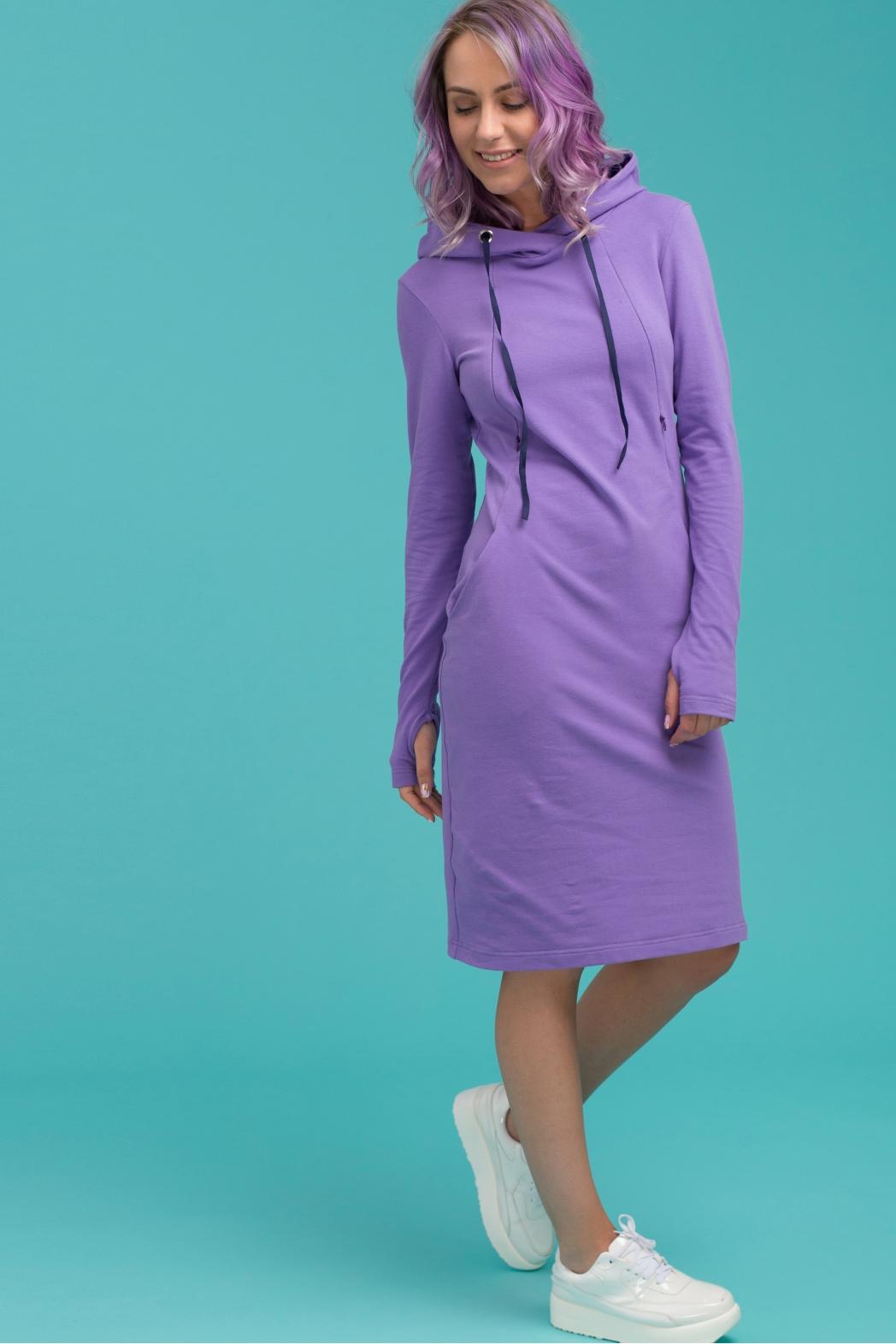 Платье для кормящих мам Hoodie Ma фиолетовое