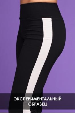 ОБРАЗЕЦ Корректирующие брюки My Doe черные с  серыми полосами