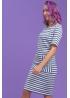 Платье для кормящих мам Daily Ma в синюю полоску