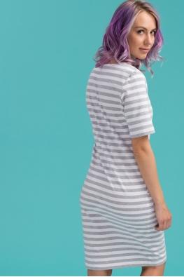 Платье для кормящих мам Daily Ma в серую полоску